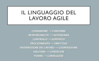 Il linguaggio del lavoro agile